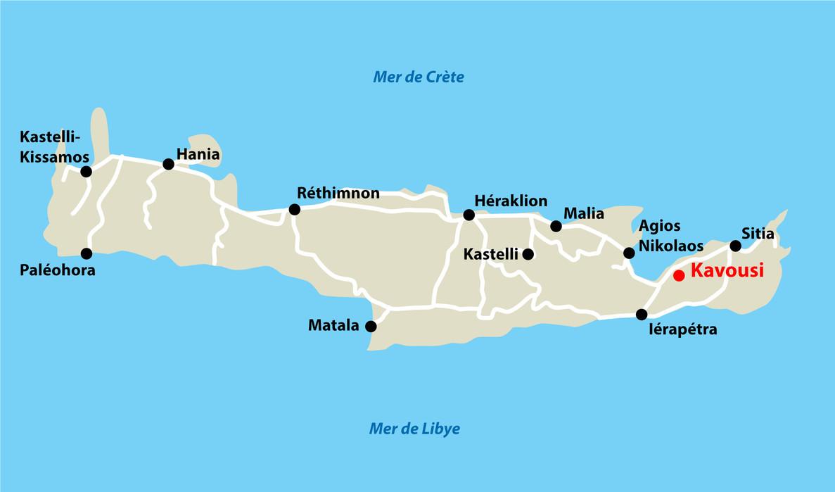 Carte de Crète Horizontale